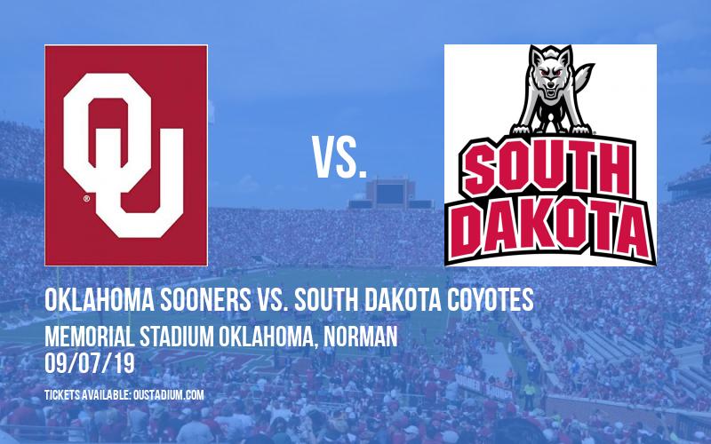 Oklahoma Sooners vs. South Dakota Coyotes at Memorial Stadium Oklahoma