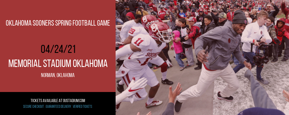 Oklahoma Sooners Spring Football Game at Memorial Stadium Oklahoma