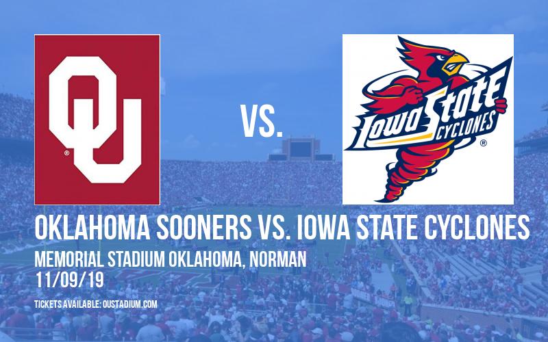 Oklahoma Sooners vs. Iowa State Cyclones at Memorial Stadium Oklahoma