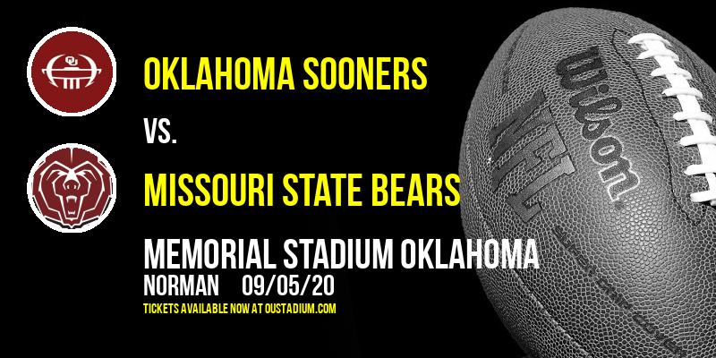 Oklahoma Sooners vs. Missouri State Bears at Memorial Stadium Oklahoma