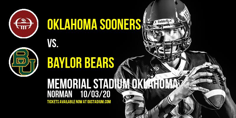 Oklahoma Sooners vs. Baylor Bears at Memorial Stadium Oklahoma