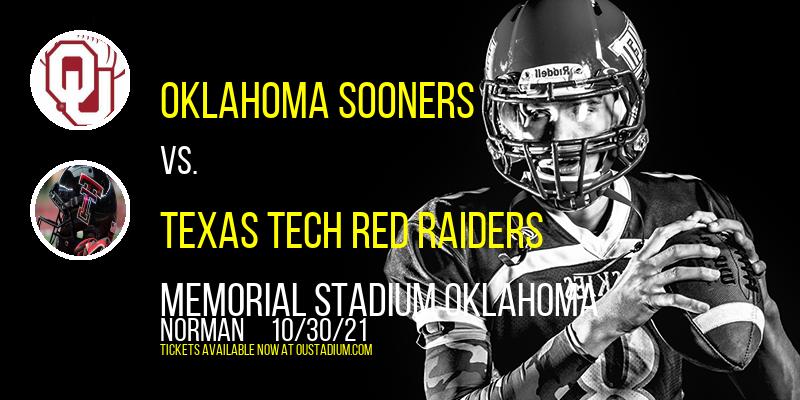 Oklahoma Sooners vs. Texas Tech Red Raiders at Memorial Stadium Oklahoma